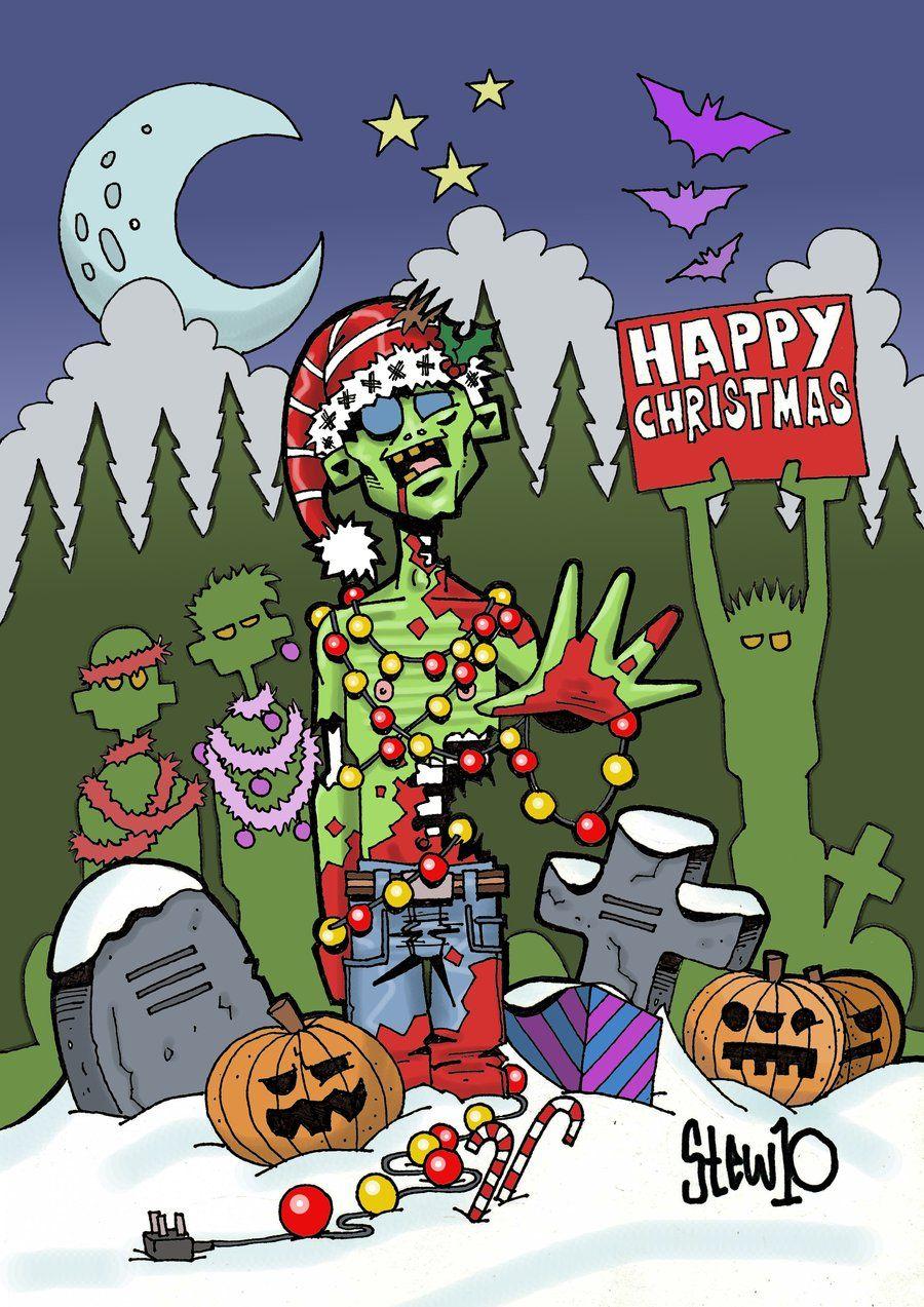 zombie christmas   Zombies   Pinterest   Zombie christmas, Christmas ...