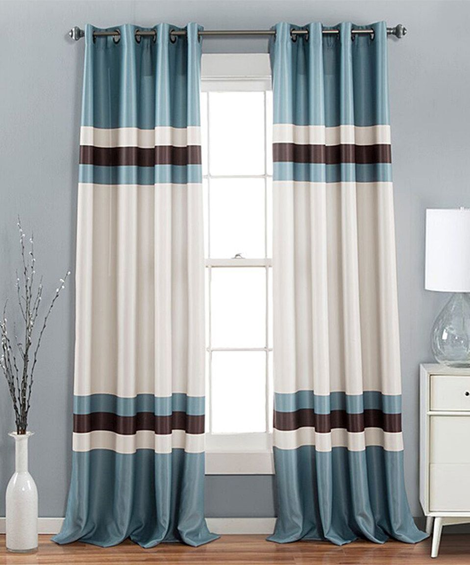 Look what i found on zulily blue xavier curtain panel set of two