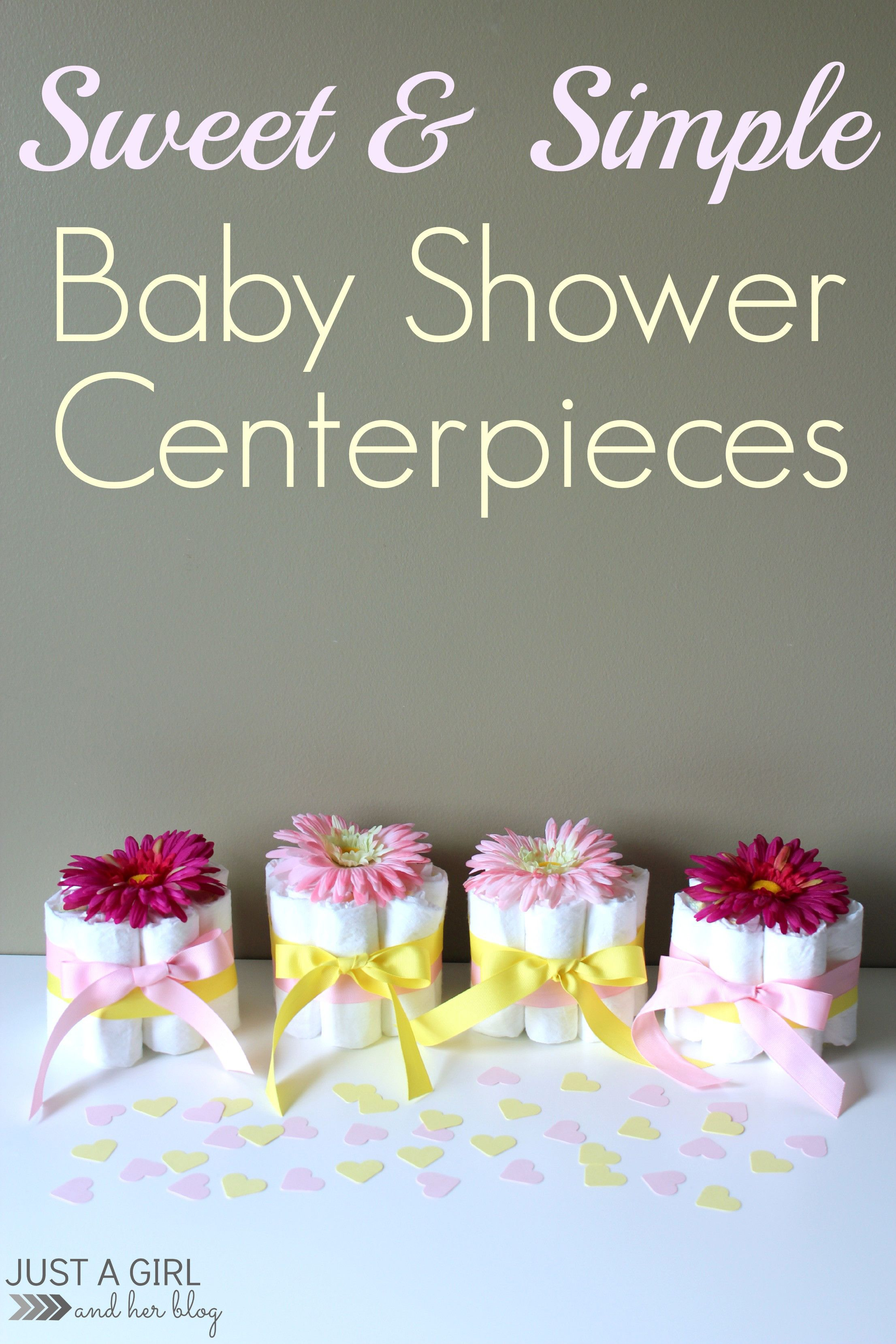 Sweet and Simple Baby Shower Centerpieces