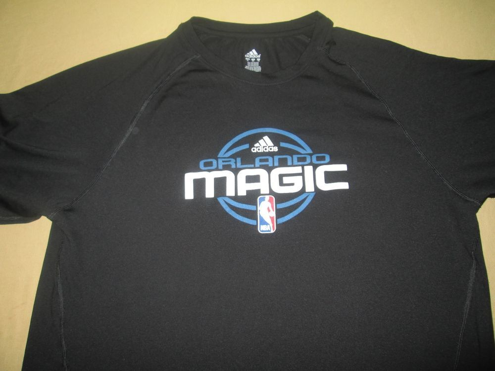 ORLANDO MAGIC NBA T Shirt XL Black Adidas Climalite