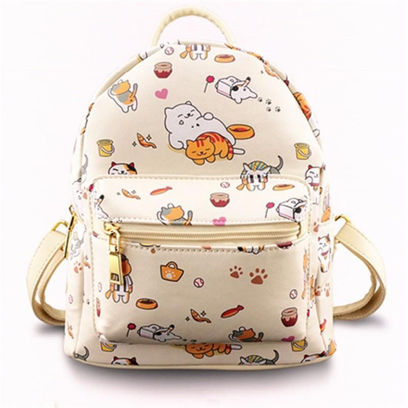 Neko Atsume Backpack Bags Girl Backpacks Backpacks