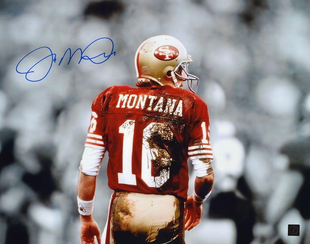 1f3ad5ed9f4 Joe Montana Autographed San Francisco 49ers 16x20 Mud Photo ASI Proof (eBay  Link)
