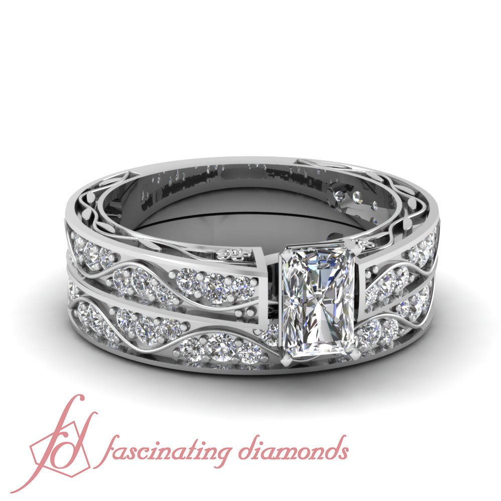 ct radiant cut ecolor diamond engagement rings and wedding