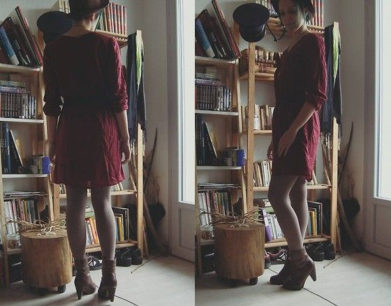 Get this look: http://lb.nu/look/7798064  More looks by Amelie A.: http://lb.nu/likoralv  Items in this look:  La Redoute Oxblood Dress   #falloutfit #oxblood