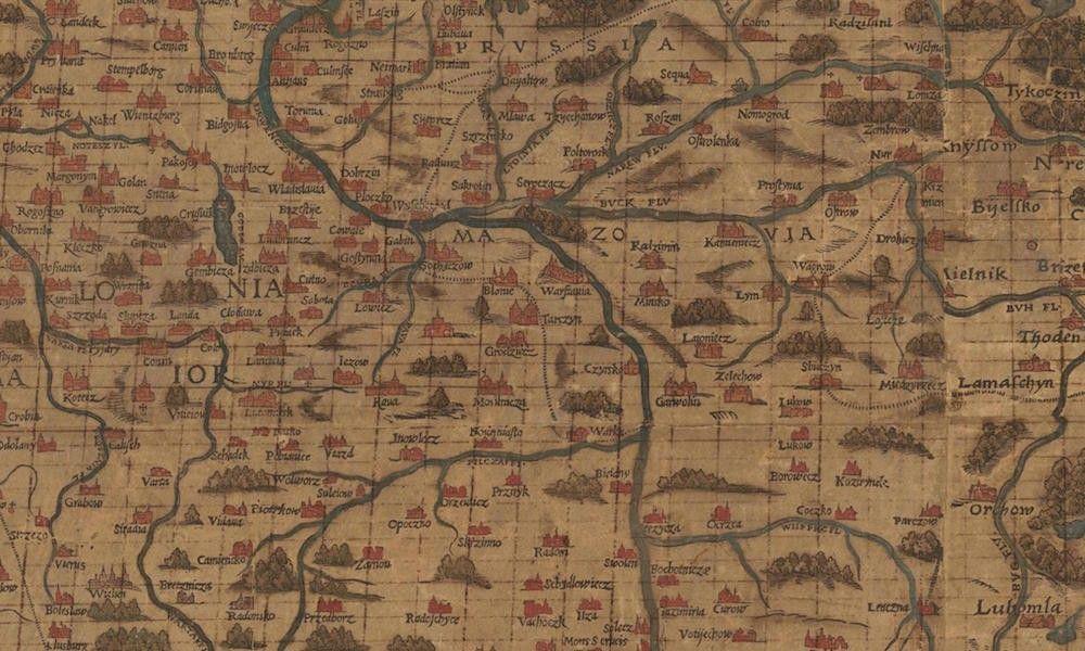 Niezwykla Stara Mapa Polski Z 1570 Roku Mapa Polska