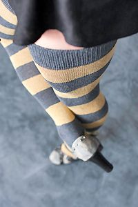 Extraordinary Striped thigh highs - sockdreams.com - for cold winter nights! :)