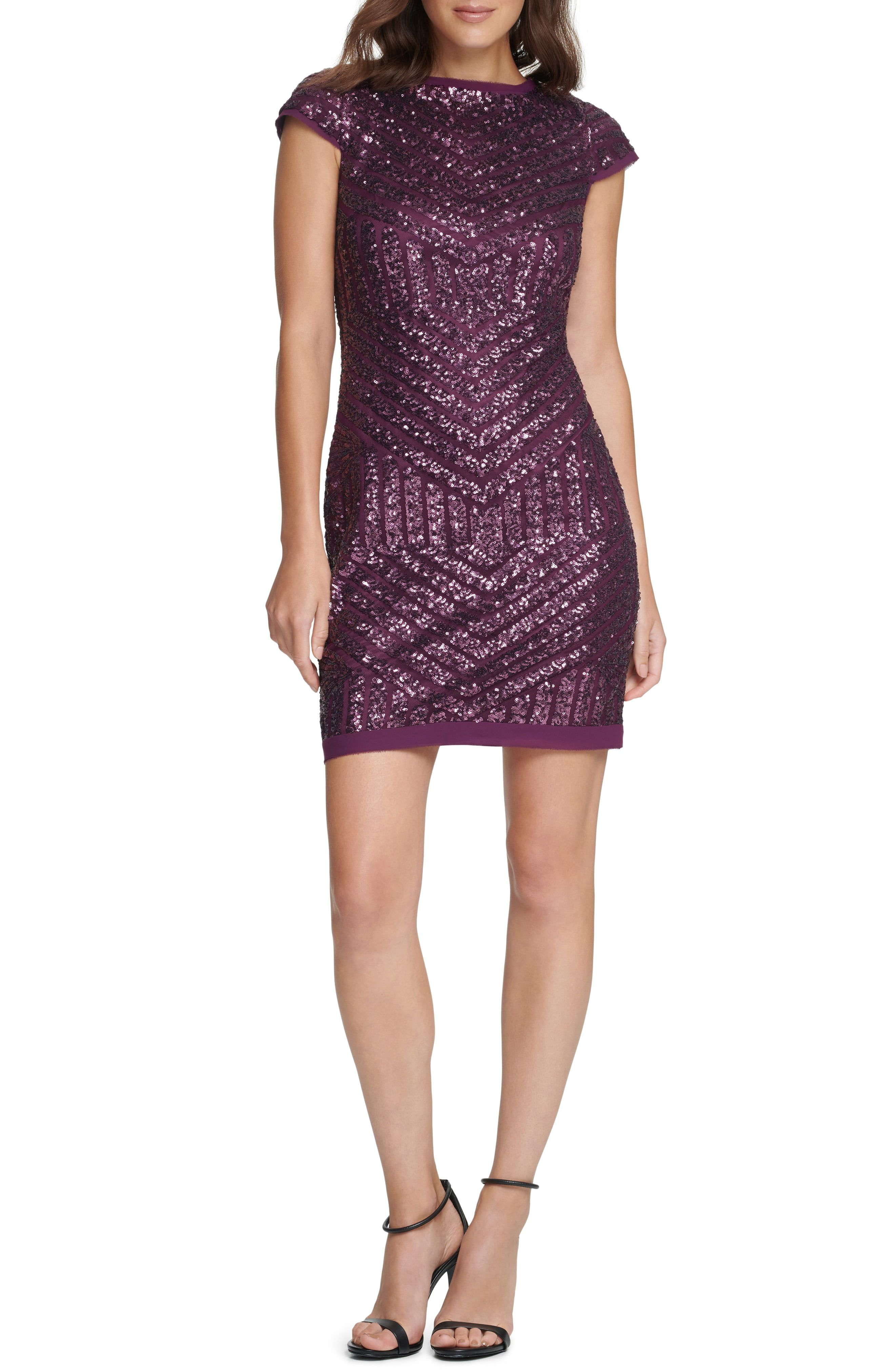 Vince Camuto Sequin Cap Sleeve Shift Cocktail Dress Nordstrom In 2021 Long Sleeve Chiffon Dress Long Sleeve Cocktail Dress Nordstrom Dresses [ 4048 x 2640 Pixel ]