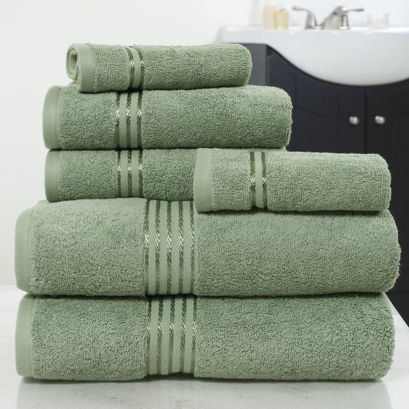 6 Piece 100 Cotton Towel Set Washing Clothes Egyptian Cotton Towels Towel Set