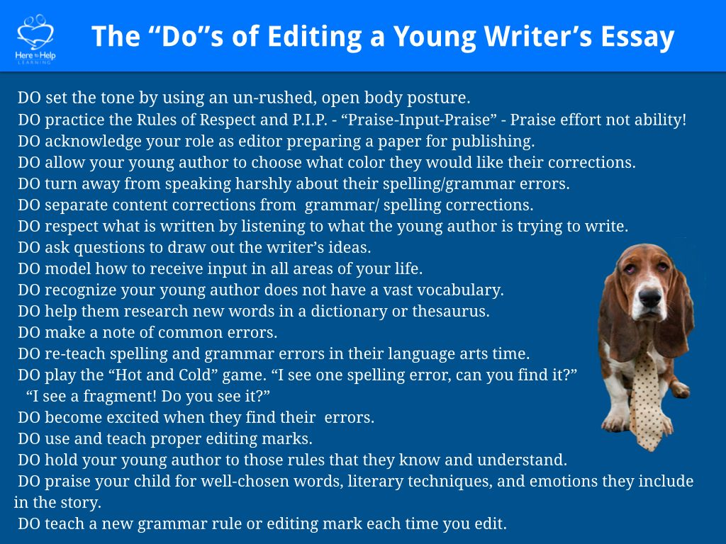 A Grammar Cop Hurts Young Writers But An Editor Helps