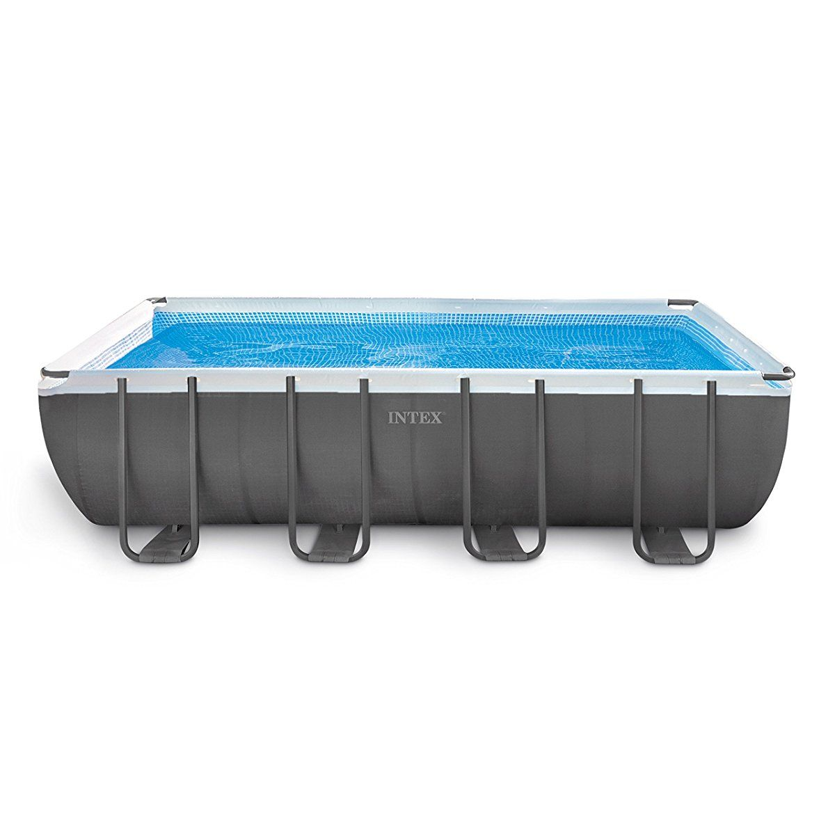 Intex 18ft X 9ft X 52in Ultra Frame Rectangular Pool Set With Sand Filter Pump Ladder Ground Cloth Pool Cover Pool Supplies Best Above Ground Pool Above Ground Swimming Pools