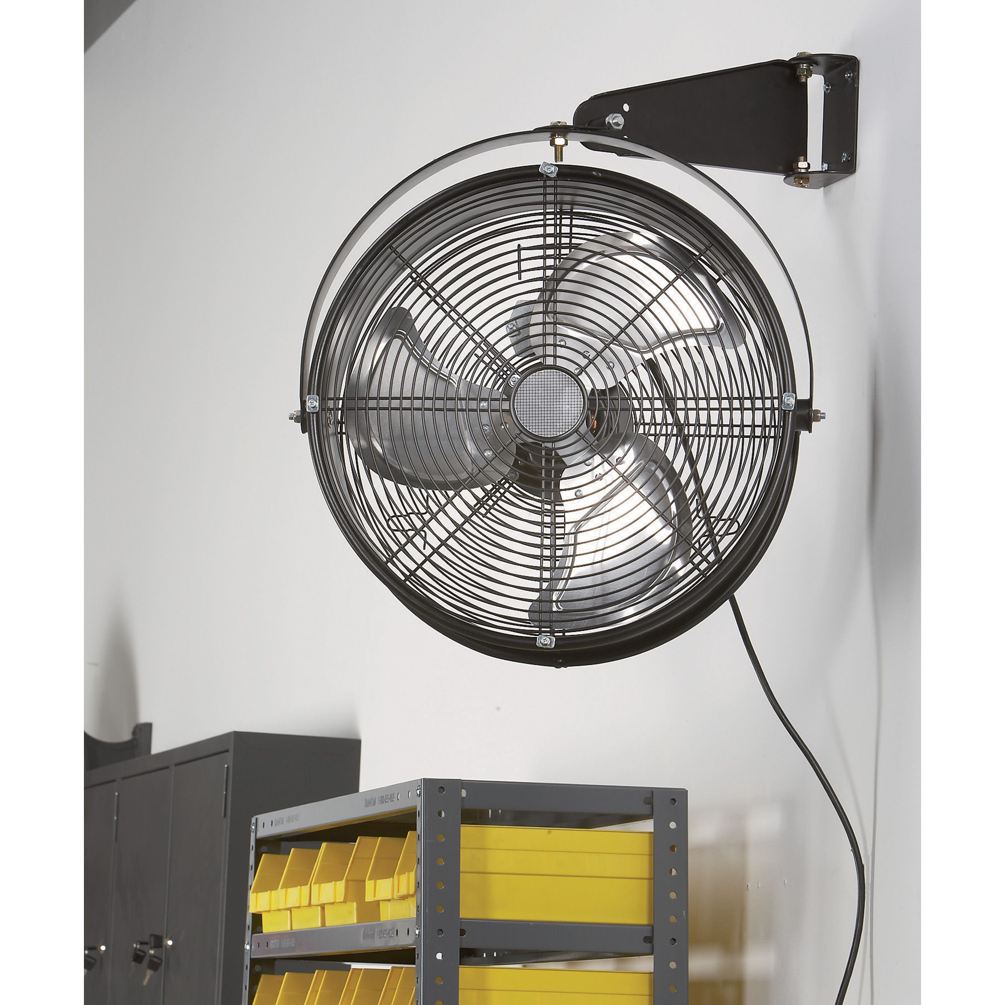 Q Standard Garage Fan 18in Model 18923 Wall Mount Dock Fans Window Ac Unit Garage Ventilation Garage Door Design