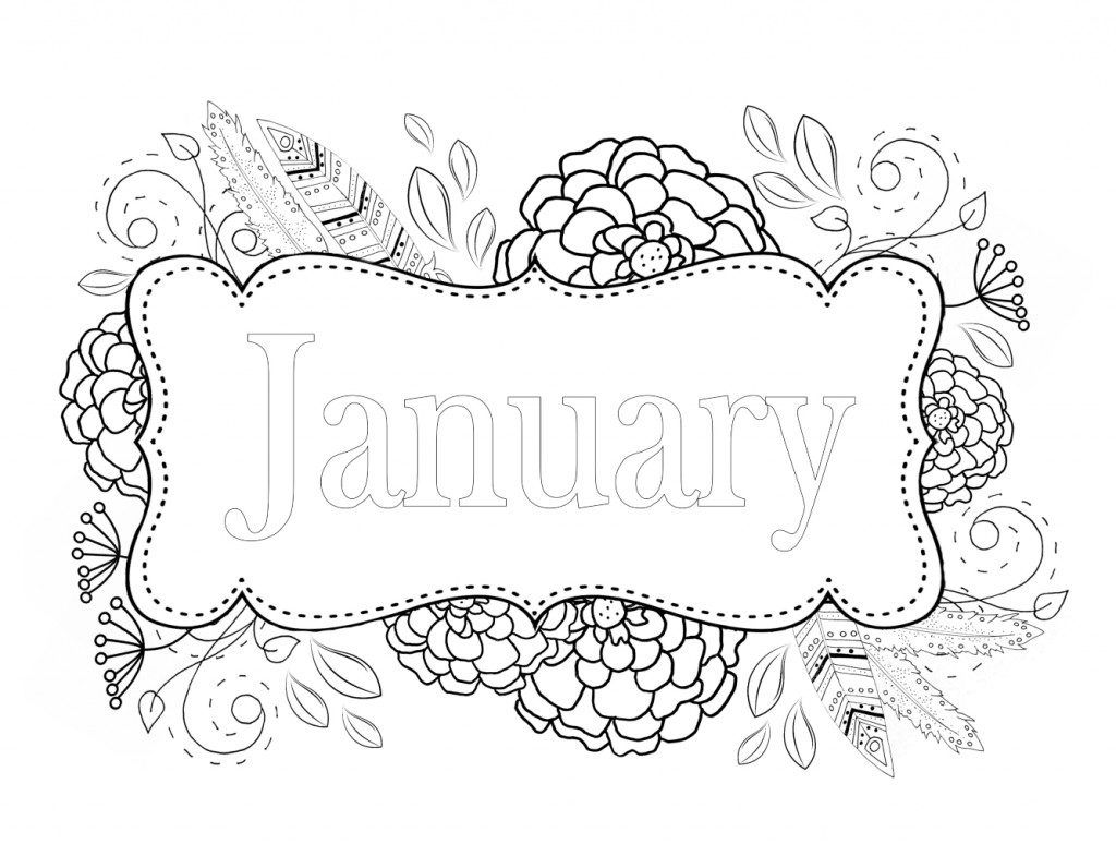 January Coloring Pages Coloring Pages For Kids Coloring Pages