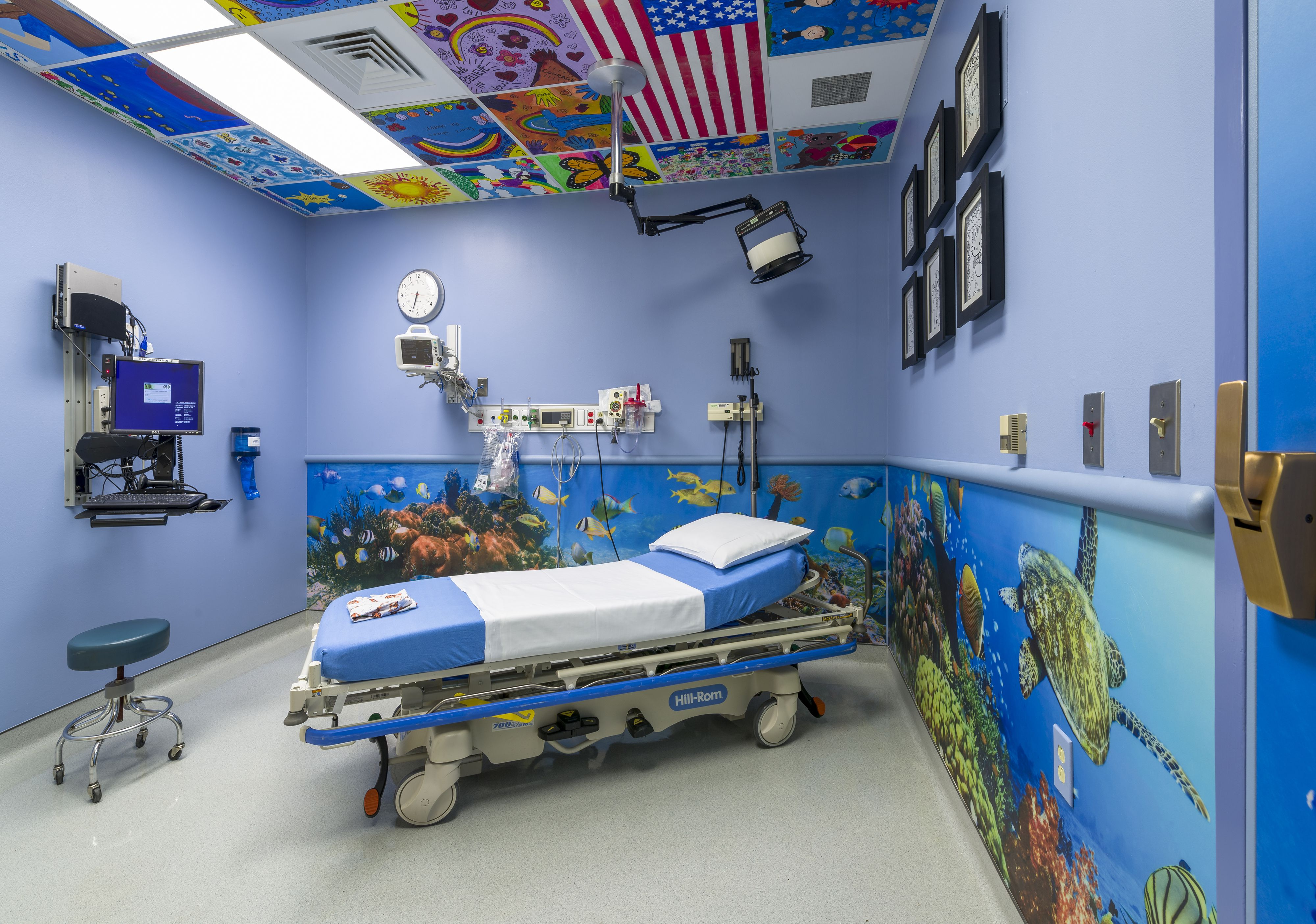 After: This Pediatric Emergency Room is bright and cheerful ...