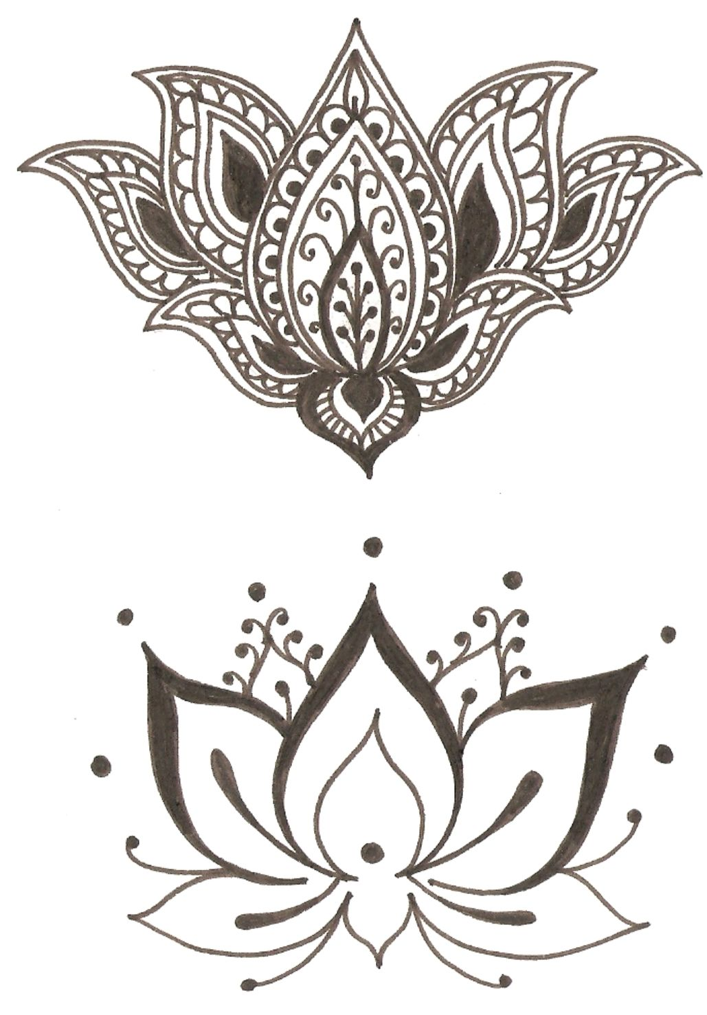 The bottom one for my sternum tattoos pinterest tattoos lotus