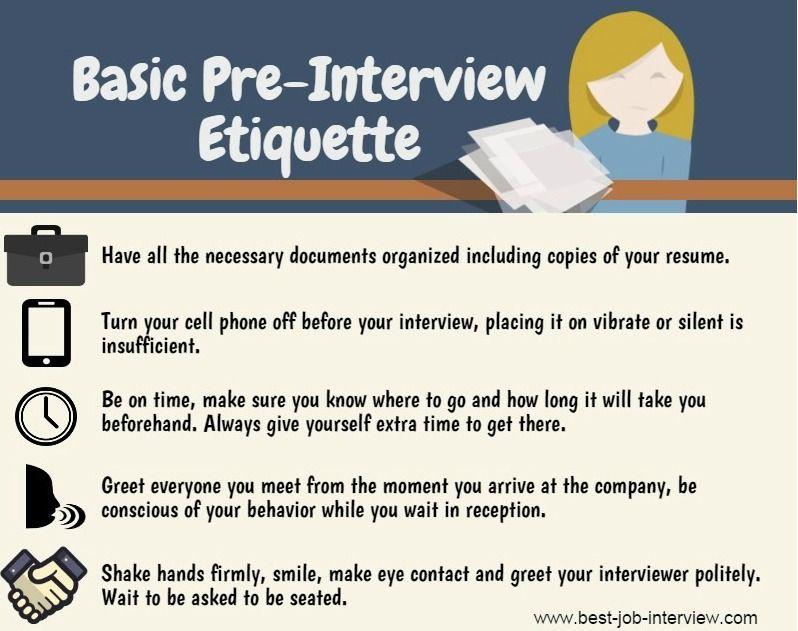 Pre-Interview Etiquette