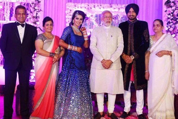 The Gala Reception Of Harbhajan Singh And Geeta Basra Will Leave You Starstruck - BollywoodShaadis.com