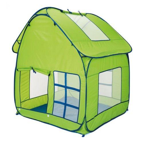 Voici une grande maison de jardin pop-up. Elle est en tissu anti-uv et son sol est imperméable. Lumineuse grâce à ses nombreuses ouvertures, elle est spacieuse et sa hauteur permet d'accueillir plusieurs enfants debout. Elle se monte, puis se plie facilement. Une fois dans son sac de transport, elle est peu encombrante et trouve toujours une petite place pour être rangée dans la maison ou emportée en vacances.