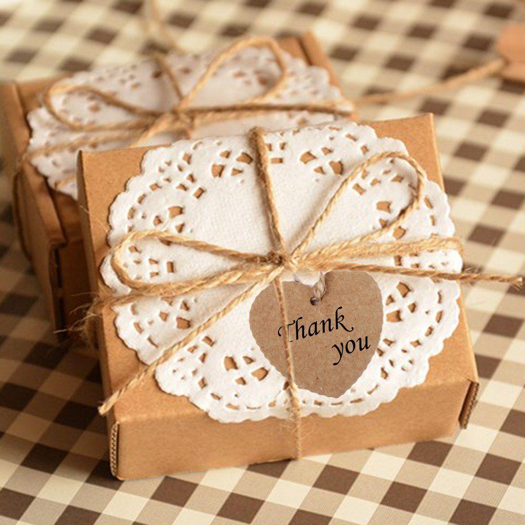 Phenovo Herz Geschenkaufkleber Geschenkanhänger Geschenk Umbauten Aufkleber Kraft Papier Leer Karte Hand Zeichnen Sie 100 Stück