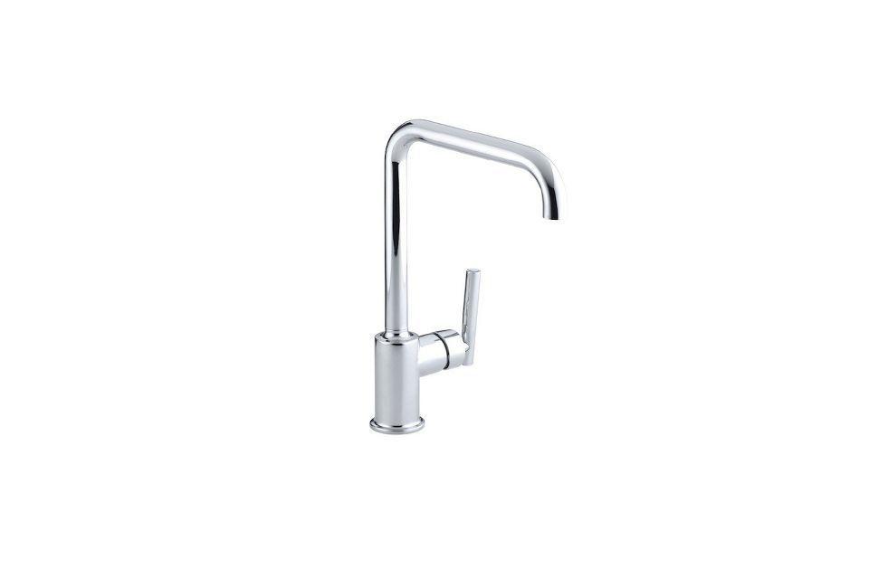 The Kohler Purist Single-Hole Kitchen Faucet is the simplest version ...
