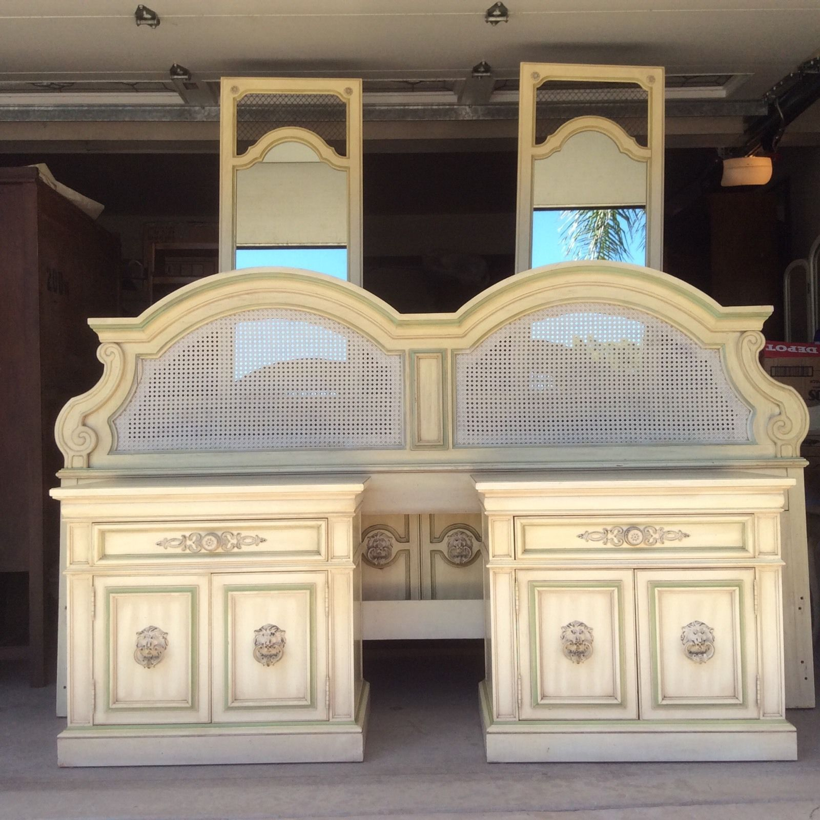 Vintage French Provincial 5 Piece Bedroom Set By