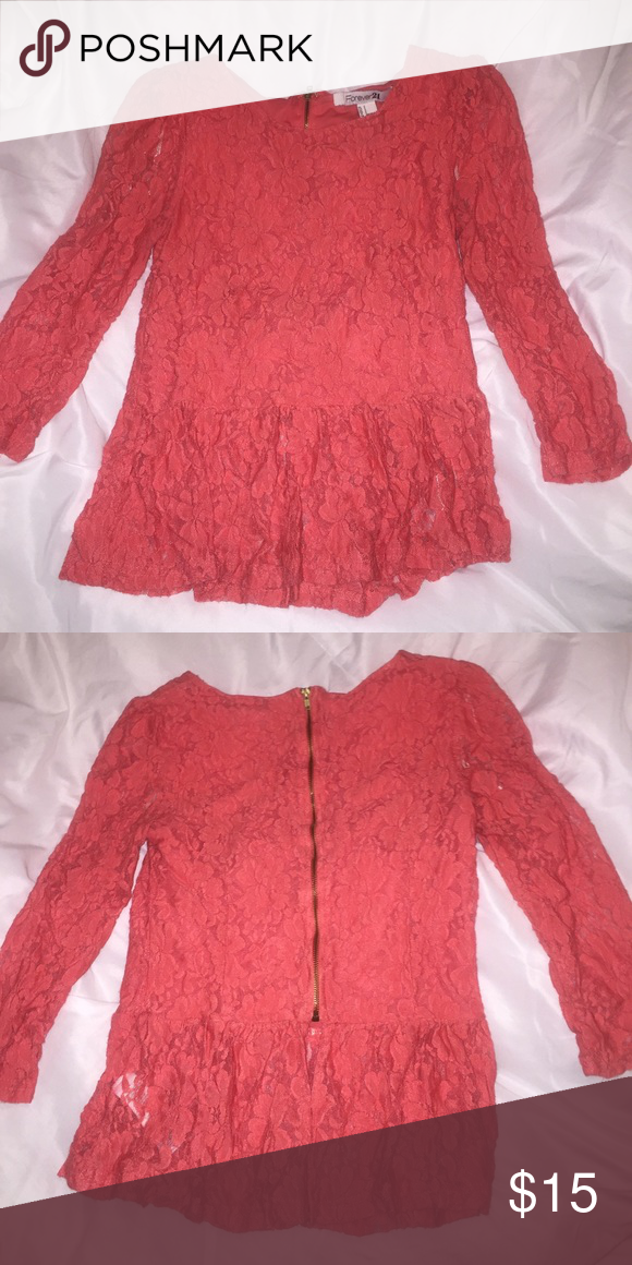 Forever 21 Lace Peplum Blouse Wore it a few times, it's too small for me now. Other