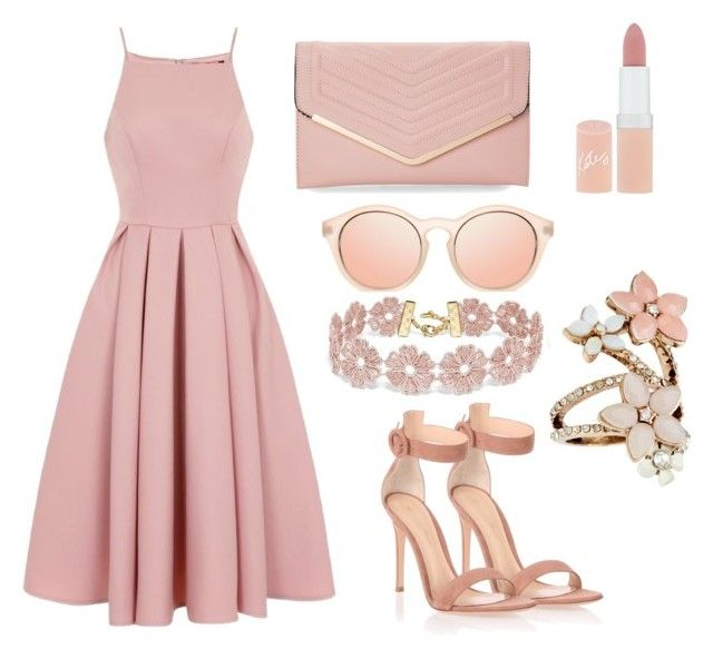 """""""Pink again"""" by oanaciobanu on Polyvore featuring Chi Chi, Gianvito Rossi, Sasha, Rimmel, BaubleBar and Accessorize"""