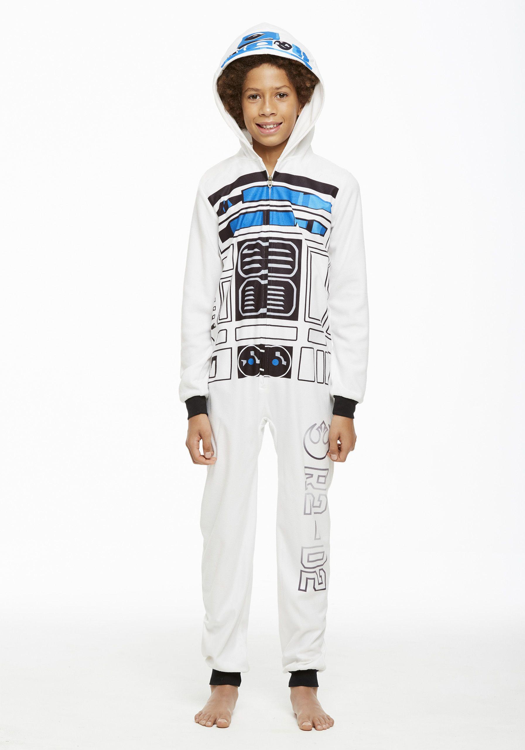Jammin  Jammies Pajamas Unisex Kids Star Wars R2D2 Onesie With Pillow Case.  Size XS dde324fec