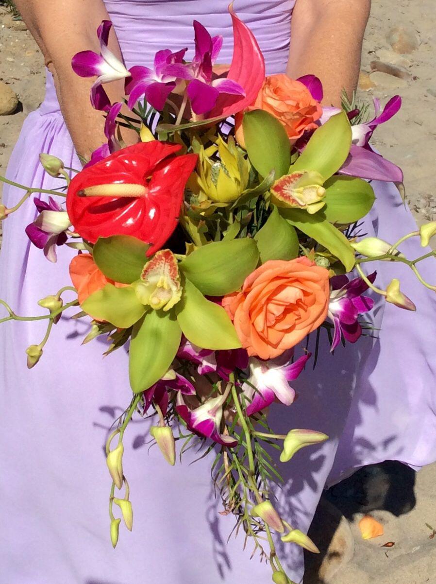 Wedding decorations in uganda  Beautiful tropical bouquet  Tropical Beach Wedding  Pinterest