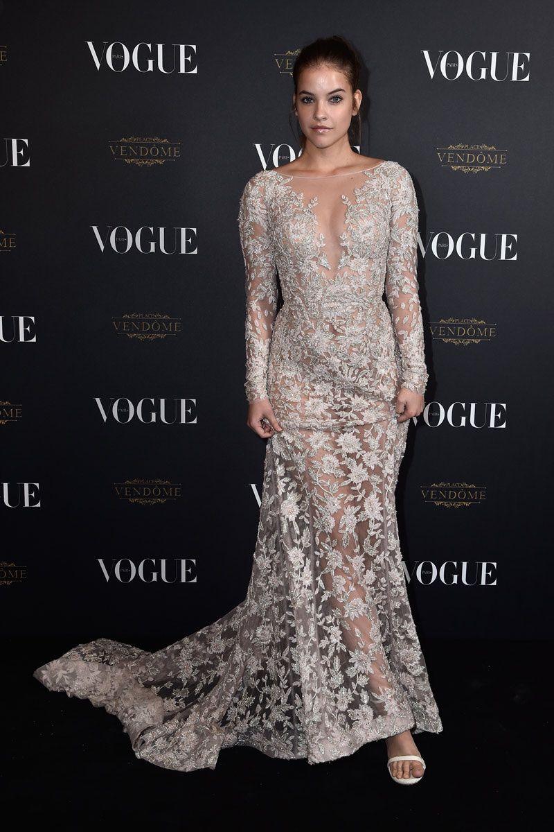 Barbara Palvin en la fiesta 95 aniversario de Vogue París