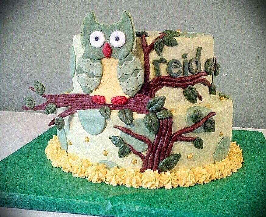 Enchanted Forrest Baby Shower Cake.