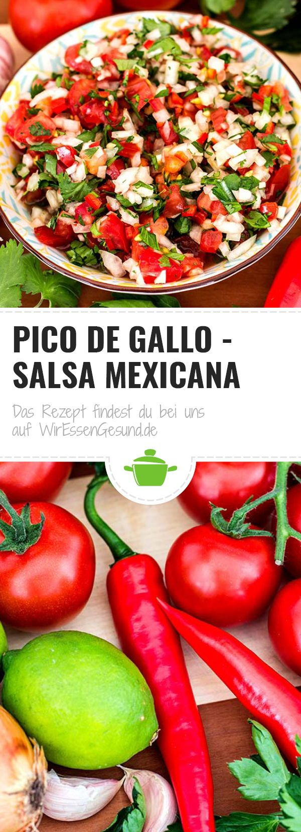 Pico de Gallo – Salsa Mexicana #mexicanfoodrecipes