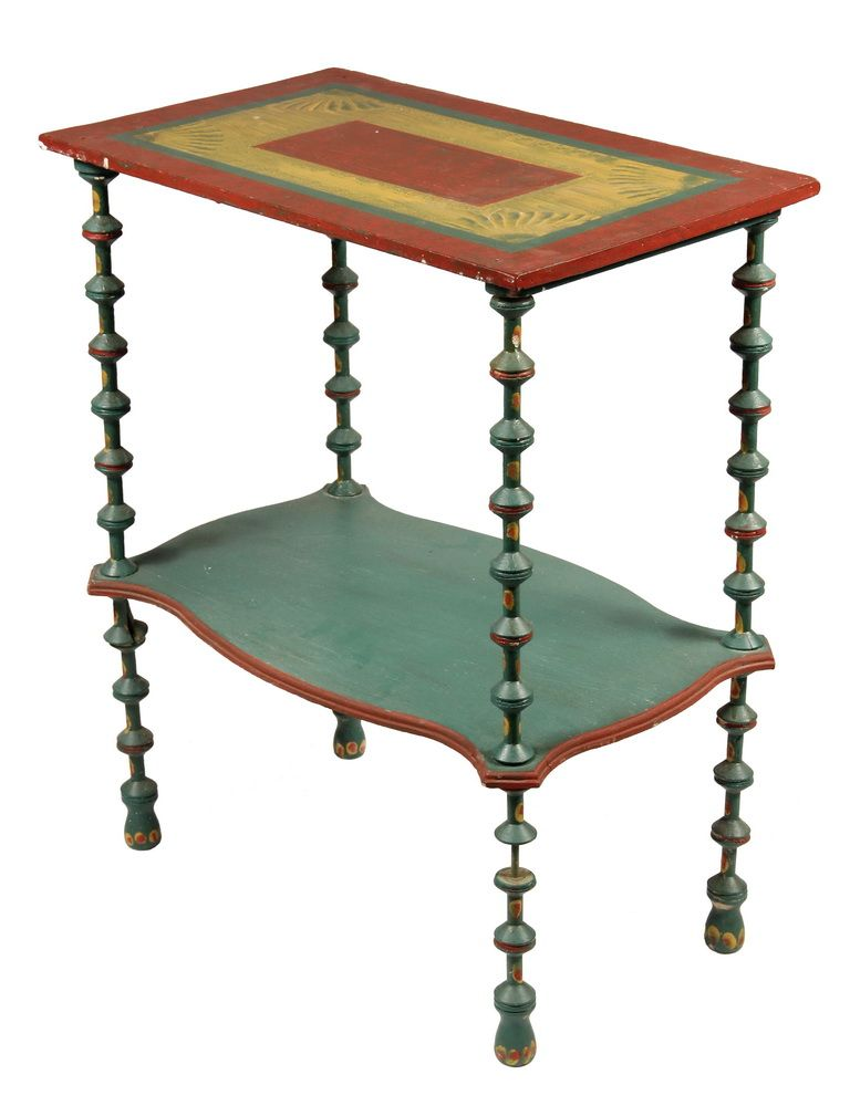 Circa 1930s Table made up from wooden thread spools