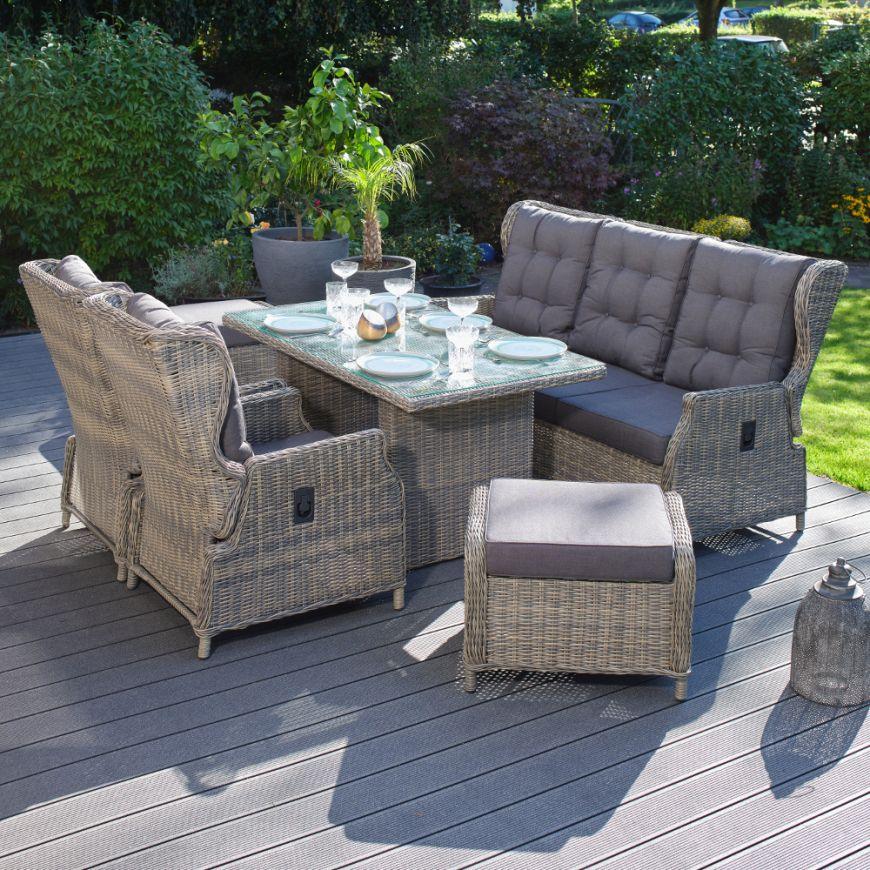 Hochwertige Tischgruppe In Braun Grau Polyrattan Garten Mobel Poly Rattan Speisegruppe Stufenlos Verste Outdoor Furniture Sets Outdoor Furniture Furniture Sets