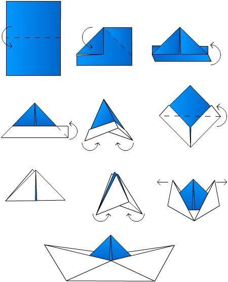 tuto origami petit bateau