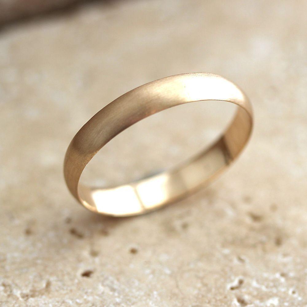 mens wedding ring wedding ring half round wedding band 14K yellow gold ring 1mm x 1mm size up to 12 mens wedding band
