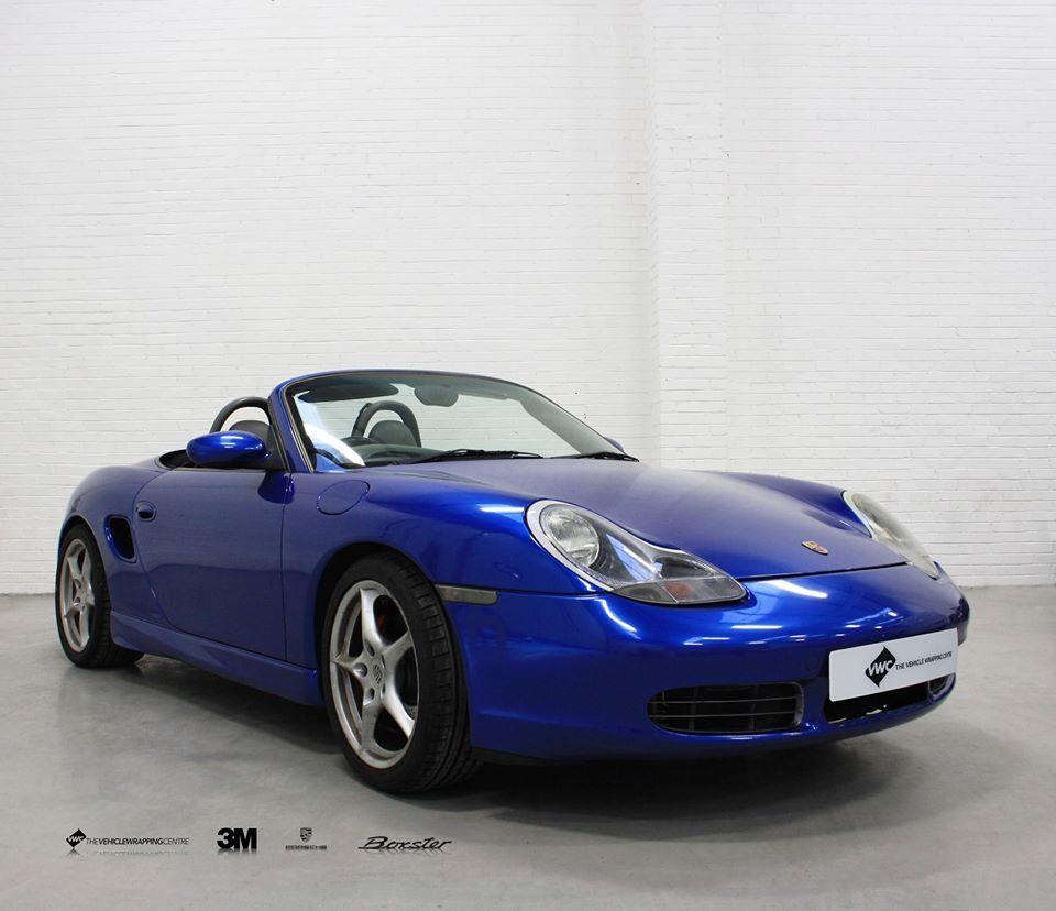 Porsche Boxster Wrapped In 3M Gloss Metallic Blue