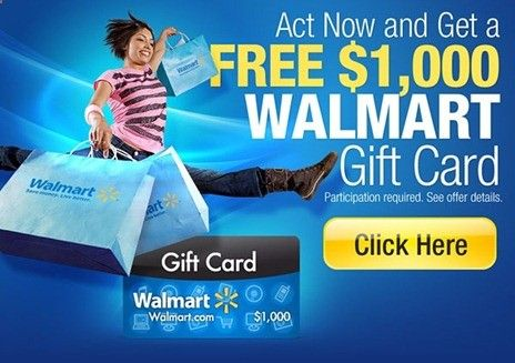 picture about Printable Walmart Gift Card called Totally free 1000 Walmart Present Card . #walmart #free of charge #gain