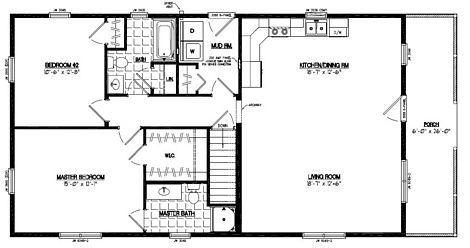 Certified Floor Plan Settler Certified Floor Plan 26 X 52 26sr506 Garage Apartment Floor Plans House Plans Guest Bedroom Remodel