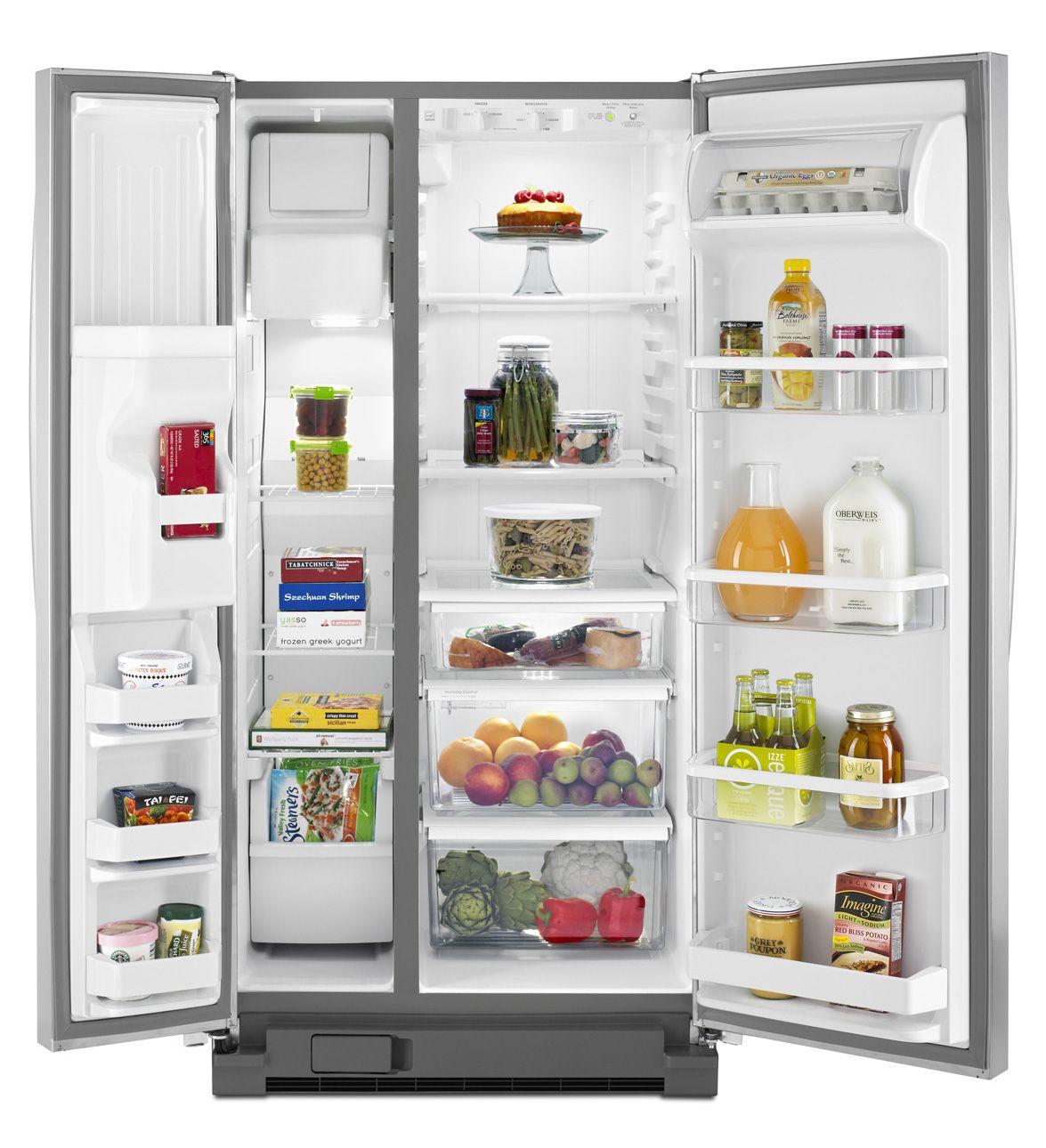 22 cu ft whirlpool sidebyside refrigerator with led