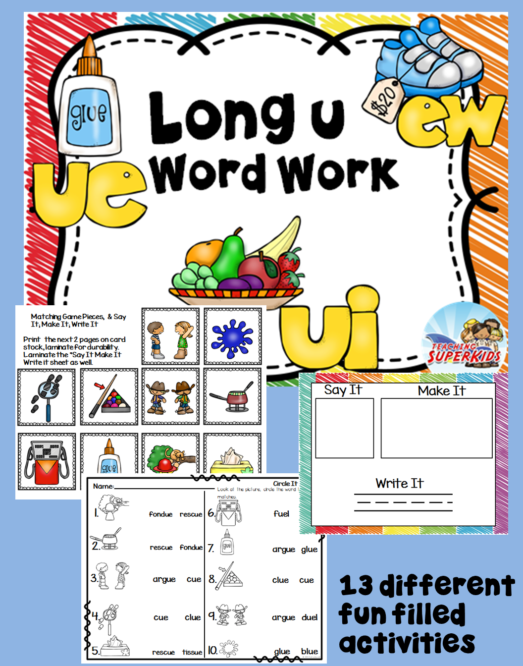 worksheet Wilson Reading Worksheets long u worksheets and centers word work wilson reading program centers