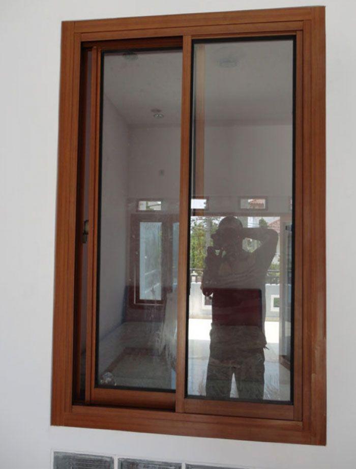 Contoh Desain Jendela Rumah Minimalis Kayu Jati Foto Gambar