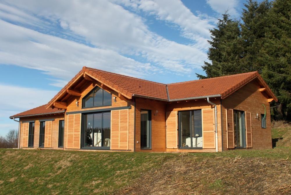 Constructeur villa en bois massif  Mobiteck bungalow kit Maison