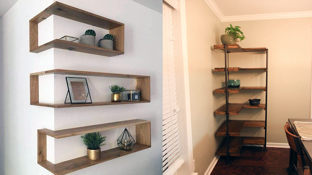 Wall Mount Corner Shelves Ideas And Tips Cheap Room Decor In 2020 Wall Mounted Corner Shelves Shelves L Shaped Shelves