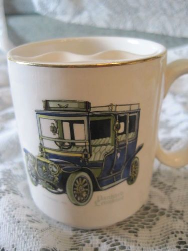 Nelson Pottery Shaving Mug 1908 La Marquise Panhard Lebassor With Gold Trim Mustache Cups