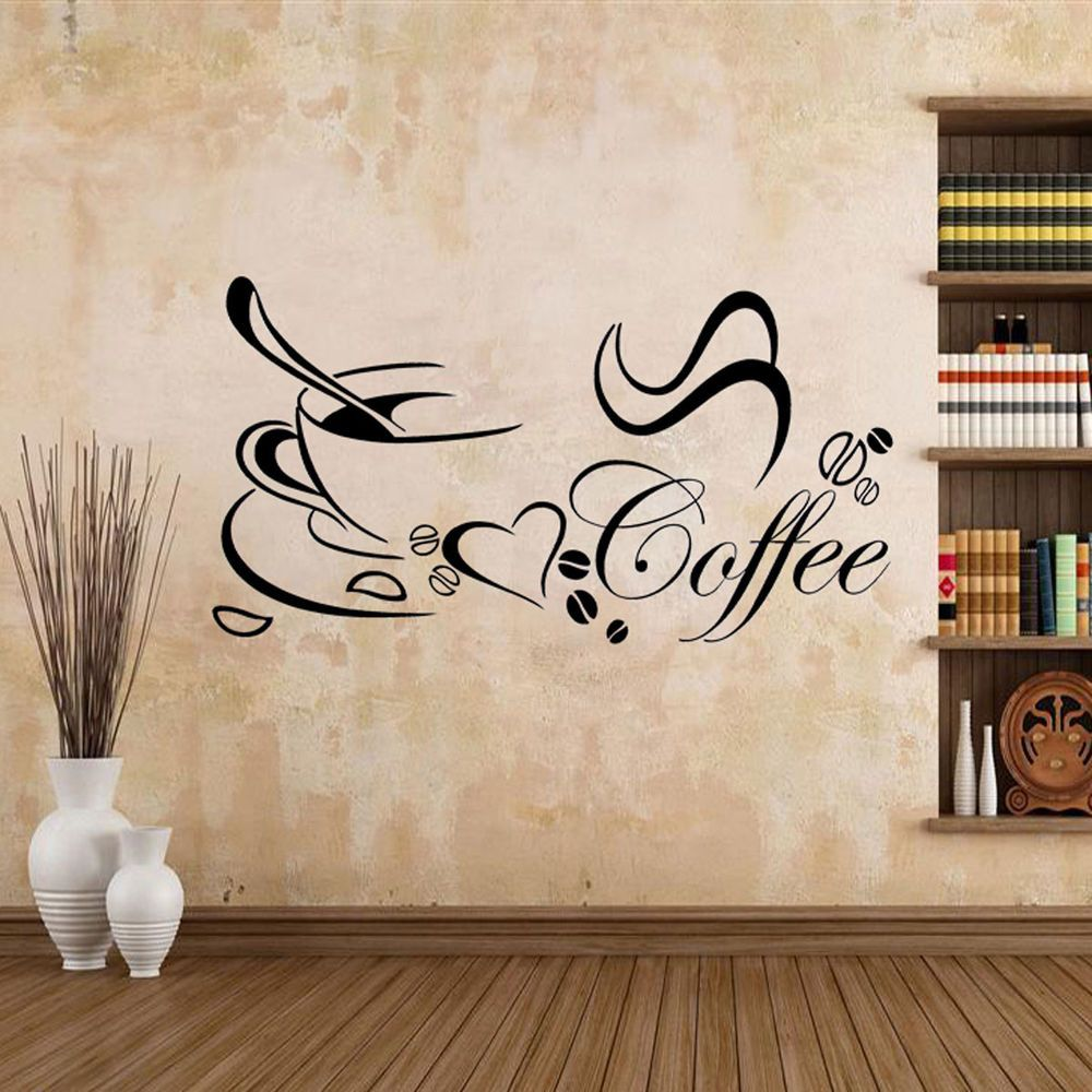 wandtattoo kaffee esszimmer spruch mokka wandaufkleber. Black Bedroom Furniture Sets. Home Design Ideas