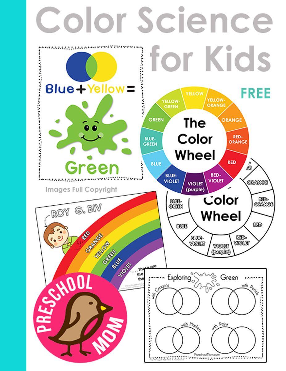 Color Science For Kids Science For Kids Preschool Printables Preschool Colors [ 1200 x 927 Pixel ]