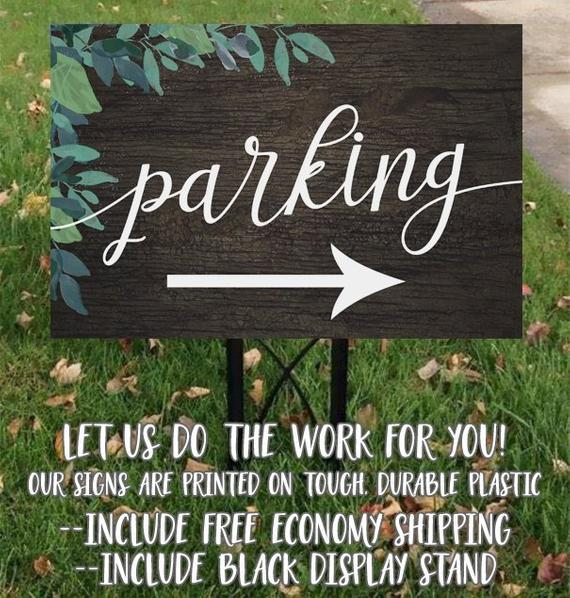 Wood Wedding Parking Sign Wooden Parking Sign Rustic Parking Etsy In 2020 Parking Signs Rustic Wedding Signs Rustic Party