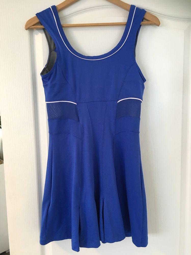 Nike size 10 drifit tennis dress blue built in bra vgc