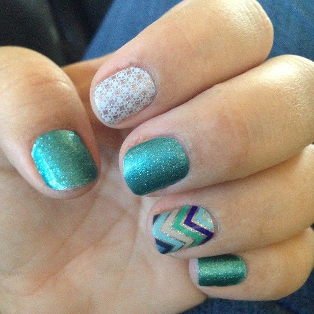 """Love this combination! #jadedjn #firstfrostjn# everythingnicejn# #Jamberrynails #Jamberry"""