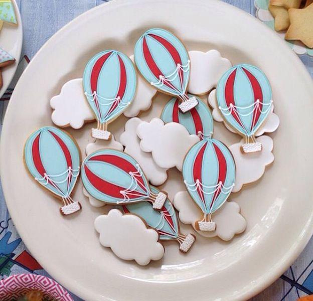 Hot Air Balloons Cookies